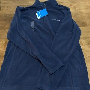 Men's M blue Columbia quarter zip fleece
